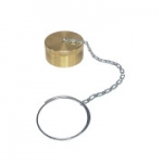 "Parker 6108-20, 1 1/4"", Brass Dust Cap with Steel Chain"