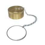 "Parker 6108-24, 1 1/2"", Brass Dust Cap with Steel Chain"