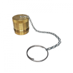 "Parker 6109-16, 1"", Brass Dust Plug with Steel Chain"