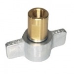 "Parker 6125-08, 3/4"", Female Wingnut Coupler, 1/2-14 NPTF, 12GPM, 3,000 PSI, Connect Under Pressure, 6100 Series"