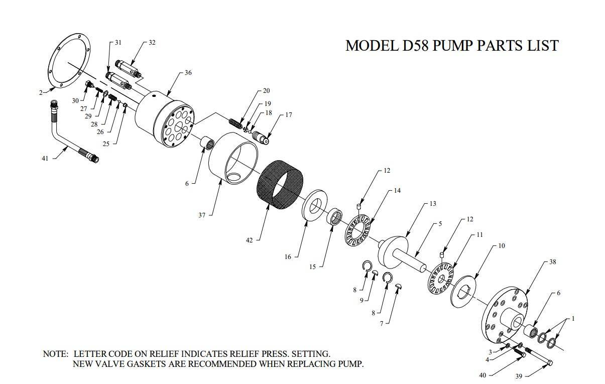 D58 Exploded View Image